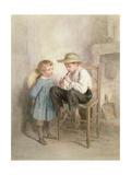 Friends Giclee Print by Pierre Edouard Frere