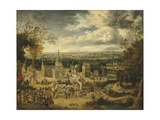 View of London and its Surroundings, England 18th Century Giclee Print by John Harris Valda