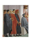 Men in Medieval Dress, Detail from the Raising of the Son of Theophilus Giclee Print by Tommaso Masaccio
