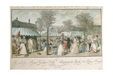 Walk in Royal Palace Garden Giclee Print by Pier Francesco Cittadini