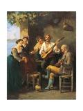 Concertino Giclee Print by Gaetano Previati