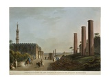 Egypt, Alexandria, Granite Pillars of Portico of Canopus, 1804 Giclee Print by Luigi Mussini