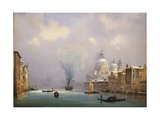Italy, Venice Covered in Snow Giclee Print by Ippolito Caffi