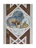 Painted Tile, Symbol of Resurrection of Jesus Christ, Detail from Frescoes, 1303-1305 Giclee Print by  Giotto