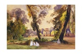 The Hunting Lodge in the Park of Caserta Giclee Print by Giacinto Gigante