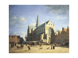 Haarlem, View of the Groote Market with the Grote Kerk Giclee Print by Gerry Embleton