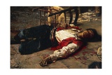 Wounded on the Ground, 1889 Giclee Print by Michele Cammarano
