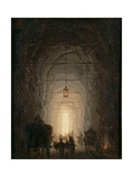Posillipo Cave Near Naples Giclee Print by Robert Lefevre