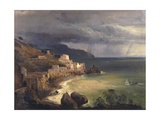 Sea Storm Off the Amalfi Coast Giclee Print by Giacinto Gigante