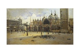 St Mark's Square, 1882 Giclee Print by Filippo Carcano