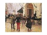 France, Paris, Boulevard Des Capucines and Vaudeville Theatre, 1889 Giclee Print by Jean Boulanger