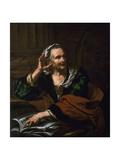 Old Woman with Armillary Sphere Giclee Print by Giambettino Cignaroli