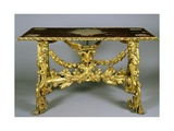 Carved and Gilt Wood Table, 1696 Giclee Print by Francesco Podesti