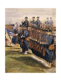 Inspection of Tsar Nicholas Ii and President Faure Troops at Chalon in October 9, 1896 Giclee Print by Edouard Detaille