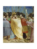 Kiss of Judas, Detail from Life and Passion of Christ Giclee Print by  Giotto