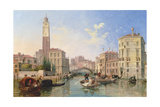 Grand Canal: San Geremia and the Entrance to the Canneregio Giclee Print by Edward William Cooke