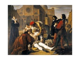 The Murder of Lorenzino De' Medici, 1840 Giclee Print by Giuseppe Bibiena
