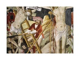 France, La Brigue, Notre-Dame Des Fontaines Chapel, Detail from Death of Jesus, 1491 Giclee Print by Giovanni Canavesio