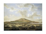 The Courtyard of Mining Company in Zacatecas in 1840, Mexico Giclee Print by Pellegrino Tibaldi