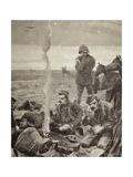 British Troops Encampment, 1884, Colonial Wars, Sudan Giclee Print by Gaspar van Wittel