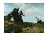 Ariccia, Roman Countryside, 1864 Giclee Print by Federico Faruffini