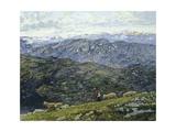 Bergamo Pre-Alps, 1896 Giclee Print by Filippo Carcano