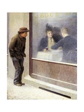 Reflections of a Hungry Man or Social Contrasts, 1893 Giclee Print by Emilio Longoni