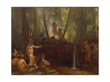 Brazil, Manufacture of Curare in the Brazilian Forests Giclee Print by Francois-xavier Fabre