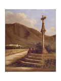 The Cross of Santa Maria Del Gesu Giclee Print by Giovanni Battista Crespi