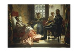 Torquato Tasso Reading Liberated Jerusalem to Eleonora D'Este, 1865 Giclee Print by Domenico Morelli