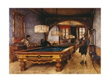 Game of Pool, 1873 Giclee Print by Filippo Comerio