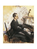 The Pianist Rey Colaco, 1883 Giclee Print by Giovanni Canavesio