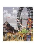 Ferris Wheel at Vienna Prater Giclee Print by Franz Hogenberg