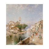 The Canal Tolentini Giclee Print by Franz Xaver Thallmaier