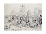 Dia De Reyes in Havana, Cuba 19th Century Engraving Giclee Print by Frederick George Cotman