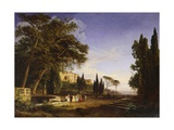 Villa D'Este in Tivoli, 1840 Giclee Print by Giovanni Francesco Barbieri