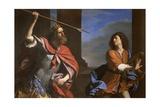 Saul Versus David Giclée-tryk af Giovanni Francesco Caroto
