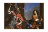 Saul Versus David Giclee Print by Giovanni Francesco Caroto