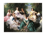 Eugenia De Montijo, Empress of France Surrounded by Her Ladies in Waiting Giclee Print by Frederic Bouchot