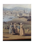 Naples from Magdalene Bridge, 1791 Giclee Print by Giovanni Battista Piazzetta