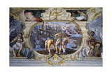 Rainier Grimaldi's Naval Battle Against Guy, Count of Flanders Giclee Print by Leon Battista Alberti