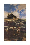 Workers on the Land, 1885 Giclee Print by Michele Cammarano