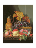 A Still Life of Fruit Giclee Print by Edward Pritchett
