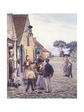 Scenes of Everyday Life in Kerteminde, 1901 Giclee Print by Harold Copping