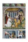 France, La Brigue, Notre-Dame Des Fontaines Chapel, Jesus Washing Apostles' Feet, 1491 Giclee Print by Giovanni Canavesio