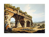 Turkey, Ephesus, European Visitors at Temple of Diana, 1805 Giclee Print by Luigi Mayer