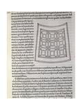 Hypnerotomachia Poliphili, Study for Garden, 1499 Giclée-tryk af Francesco De Rossi Salviati Cecchino
