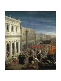 The Banks of the Schiavoni in Venice, Details Giclee Print by Leon Battista Alberti