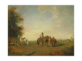 Resting Place of the Arab Horsemen on the Plain, 1870 Giclee Print by Eugene Fromentin