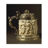 Ivory and Gilded Bronze Tankard Showing Bacchanalia Scene, Circa 1600-1650 Giclee Print by Peter Szumowski